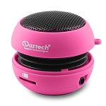 Naztech N15 3.5mm Mini Boom Speaker with SD Card Slot for WMA/MP3 Playback - Pink