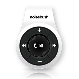 NoiseHush NS560 Clip-on Bluetooth Stereo Headset - White